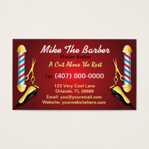 barbershop business cards