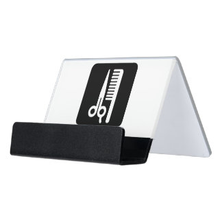Barbershop / Beauty Salon Desk Business Card Holder
