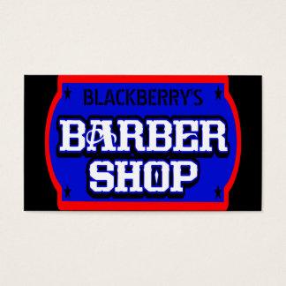 Barbershop Blue Business Card