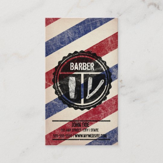 Barbershop business card zazzle barbershop business card colourmoves