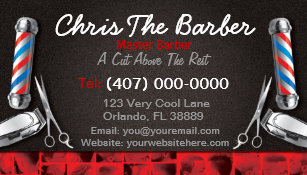 Barber business cards 600 barber business card templates barbershop business card barber pole and clippers colourmoves