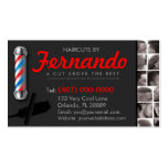 Barbershop Business Card-Barber pole, clippers com Business Card Templates
