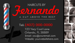 Barber business cards 600 barber business card templates barbershop business card barber pole clippers com business card colourmoves