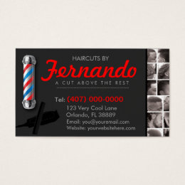 Barber Business Cards Barber Business Card Templates - Barber business card template