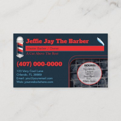 Barbershop template barber pole and clippers business card barbershop template barber pole and clippers business card zazzle colourmoves