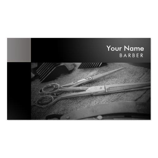 Barber Business Cards : Barber shop Business Card Templates BizCardStudio.com