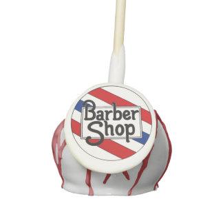 Barbershop Cake Pops