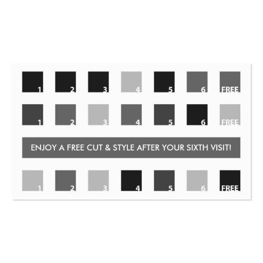 barbershop customer appreciation mod squares business card template