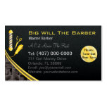 Barbershop (Customizable barber pole, clippers) Double-Sided Standard Business Cards (Pack Of 100)