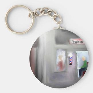 Barbershop Design Keychain