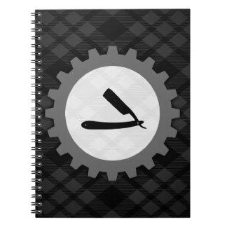 barbershop gear notebook