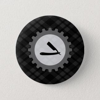 barbershop gear pinback button