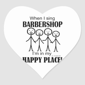 Barbershop Happy Place Stickers