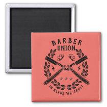 Barbershop logo magnet