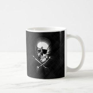 Barbershop Mirror Skull and Crossbones Coffee Mug