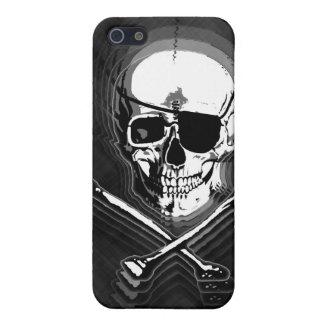 Barbershop Mirror Skull and Crossbones iPhone SE/5/5s Case