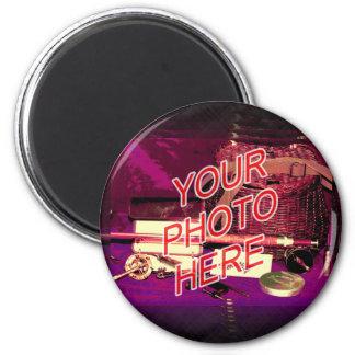 Barbershop Mirror Template 2 Inch Round Magnet