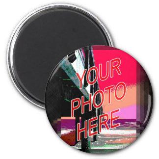 Barbershop Mirror Template verticle 2 Inch Round Magnet