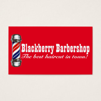 Barbershop Pole Two Business Card