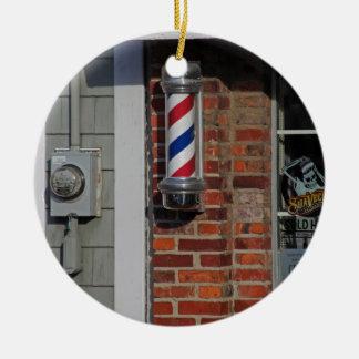Barbershop Pole Vector Ceramic Ornament