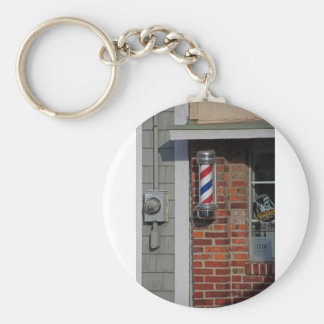 Barbershop Pole Vector Keychain