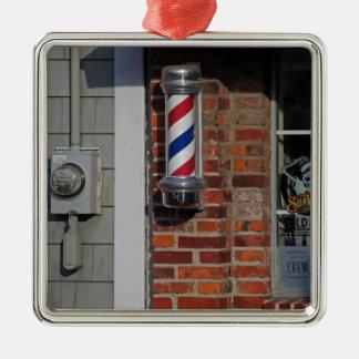 Barbershop Pole Vector Metal Ornament
