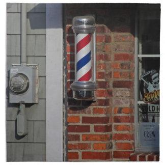 Barbershop Pole Vector Napkin