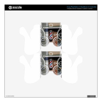 Barbershop Pole Vector PS3 Controller Decal