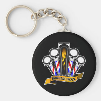 Barbershop Quartet: Barbers Rock Keychain