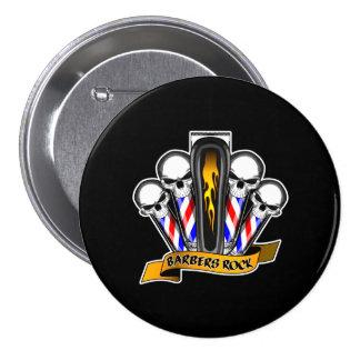 Barbershop Quartet: Barbers Rock Pinback Button