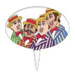 Barbershop Quartet Oval Cake Toppers