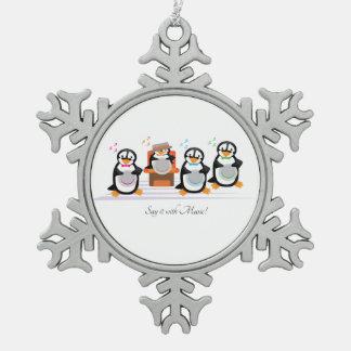 Barbershop Quartet Snowflake Pewter Christmas Ornament