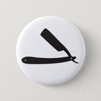barbershop razor pinback button