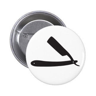 barbershop razor pinback button
