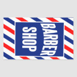 Barbershop Rectangle Stickers