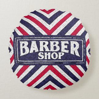 Barbershop Round Pillow