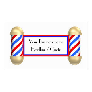 Barbershop scroll Double-Sided standard business cards (Pack of 100)