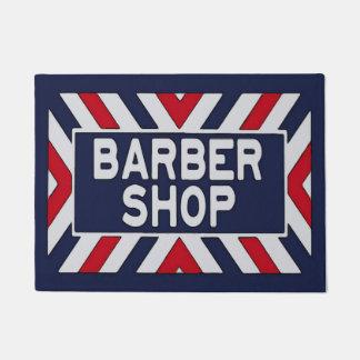 Barbershop Sign 3 Doormat