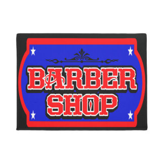 Barbershop Sign 4 Doormat