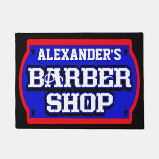 Barbershop Sign Personalize Doormat