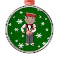 Barbershop Singer Christmas Music Ornament