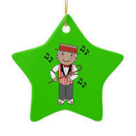Barbershop Singer Music Christmas Ornament Gift
