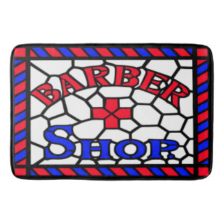 Barbershop Stained Glass Bath Mat