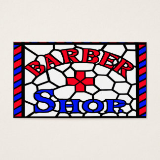 Barbershop Stained Glass Business Card