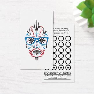 barbershop sugar skull stamp card
