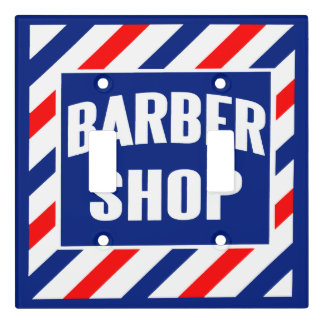 Barbershop Window Sign Light Switch Cover