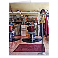 Barbershop With Coat Rack Card