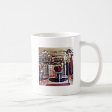 Barbershop With Coat Rack Coffee Mug
