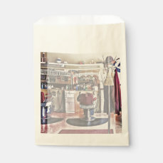 Barbershop With Coat Rack Favor Bag