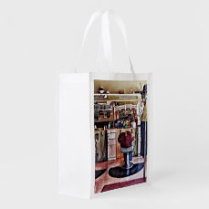Barbershop With Coat Rack Grocery Bag